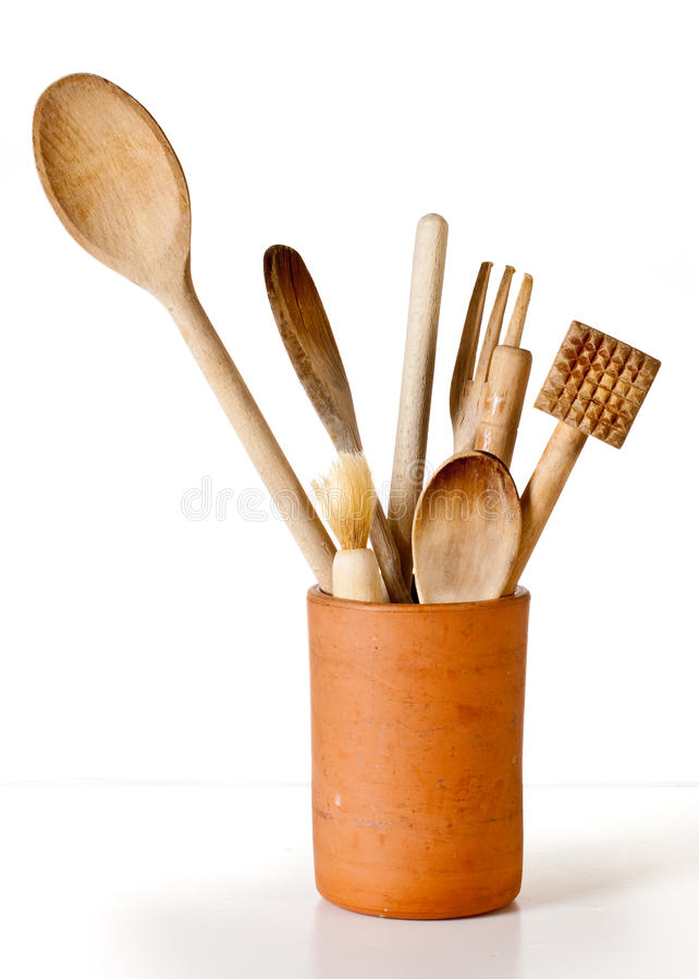 Download Wooden Utensils stock photo. Image of container, kitchen - 15517474