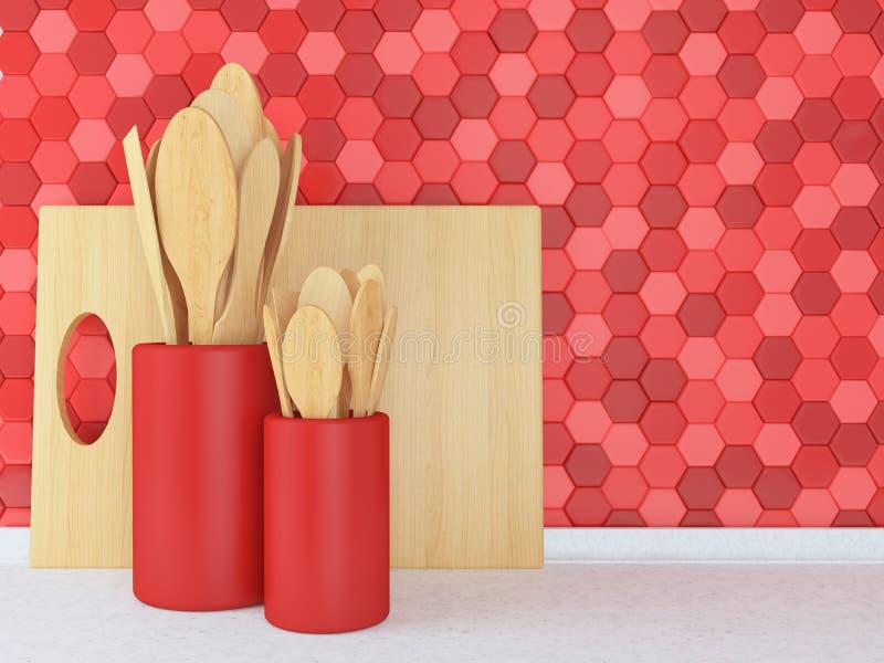 Wooden utensils. vector illustration