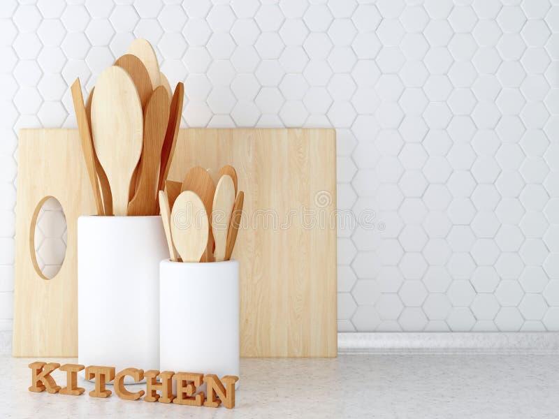 Wooden utensils. royalty free stock photo
