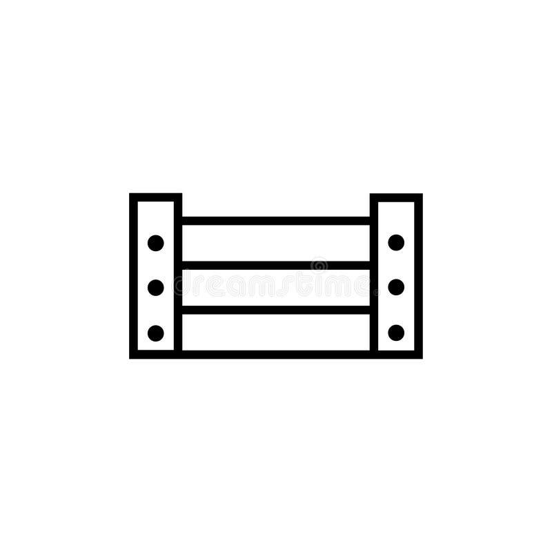 Wooden Vegetable Box, Fruit Harvesting Drawer Flat Vector Icon. Wooden Vegetable Box, Fruit Harvesting Drawer. Flat Vector Icon illustration. Simple black symbol royalty free illustration