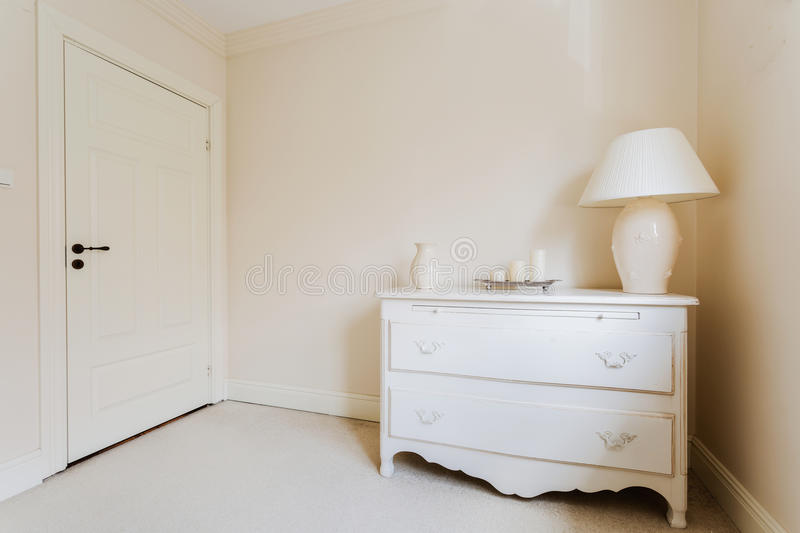 Wooden vintage commode stock photography