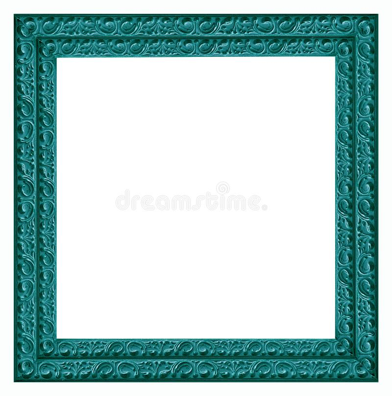 Wooden vintage picture and photo frame isolated on white background stock photos
