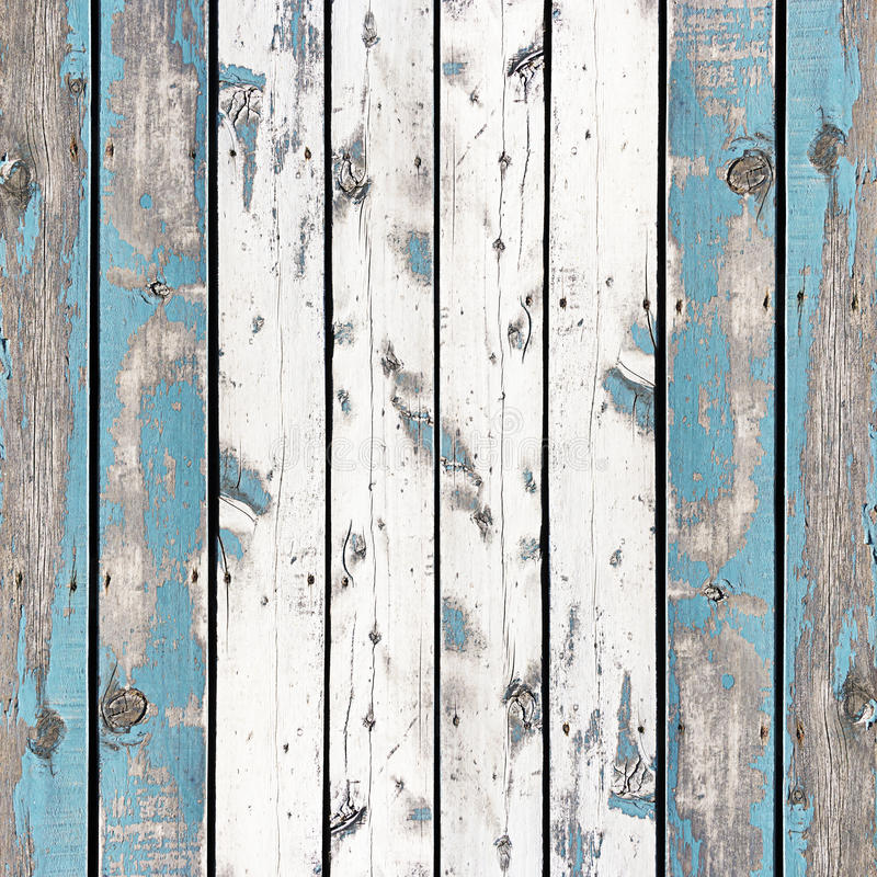 Wooden wall background or texture, The old walls are painted blue stock image