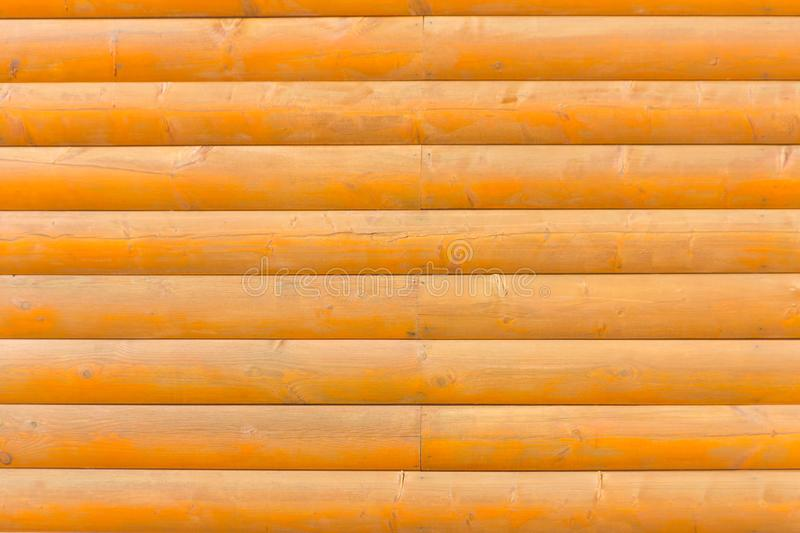A wooden wall. Wall of logs. royalty free stock photography