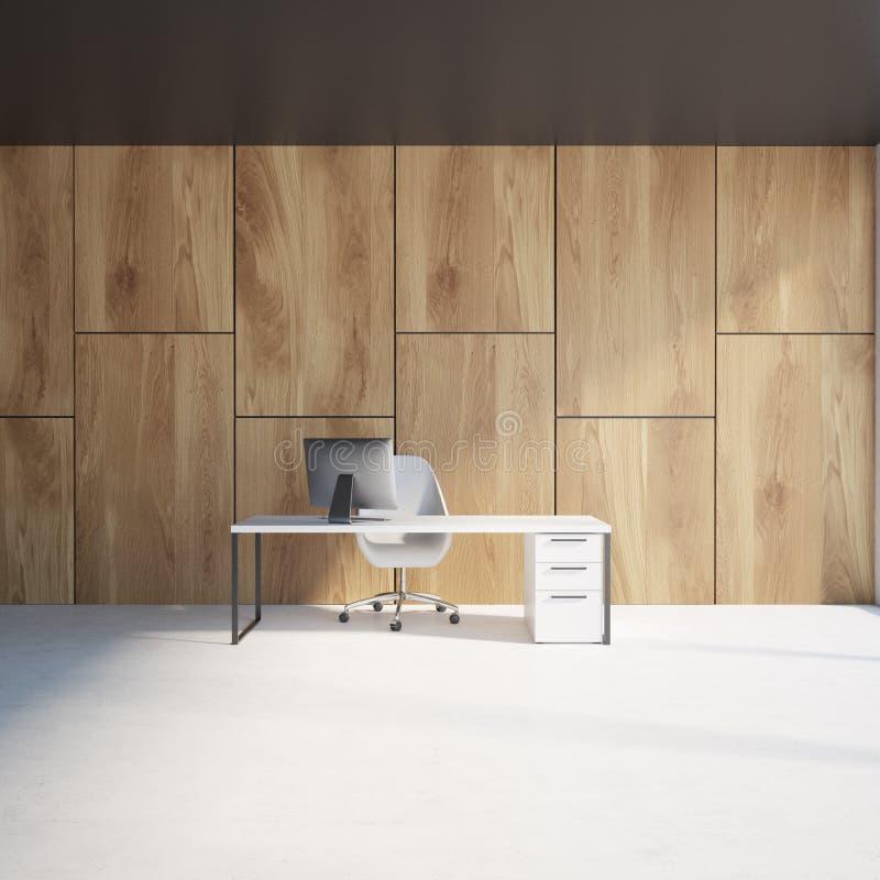 Wooden Wall Luxury CEO Office Interior Stock Illustration ...