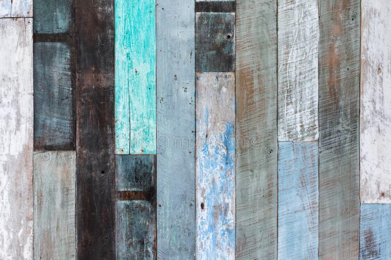 Wooden wall multicolor texture background. Shabby grunge wall royalty free stock photos