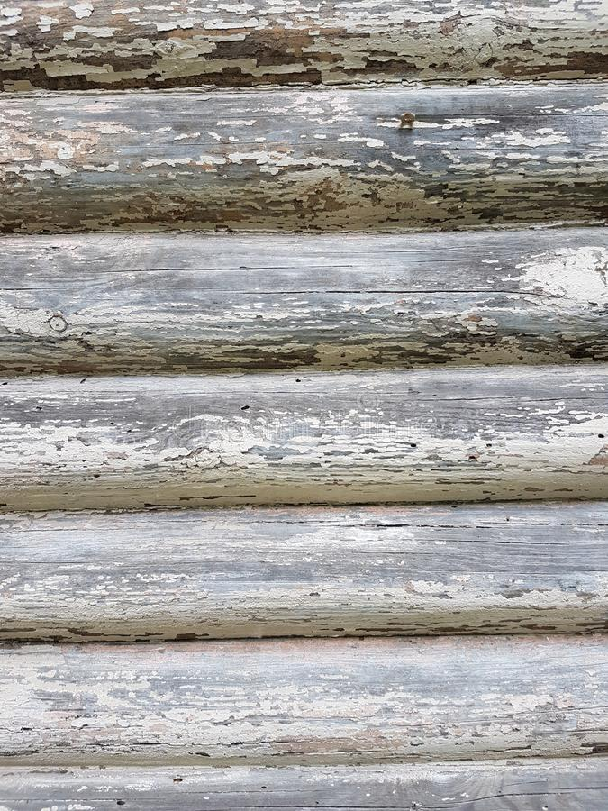 Natural texture. Vintage wooden wall. Russian decor royalty free stock photos