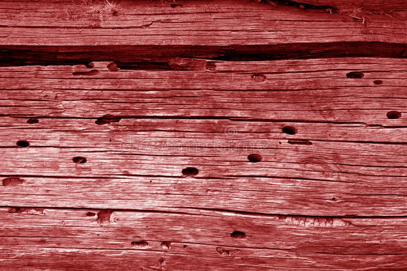 Wooden wall texture in red color. Abstract background and texture for design, vintage, old, weathered, timber, tree, carpentry, natural, painted, materials royalty free stock images