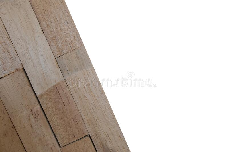 Wooden wallpeper on white background. Isolated Wooden wallpeper on white background with clipping path royalty free stock photo
