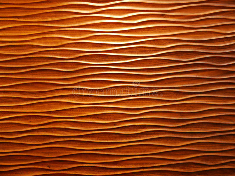 Wooden wavy patterns. Natural material stock images