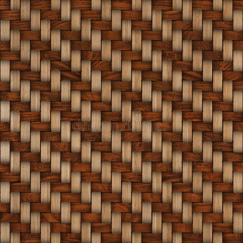 Wooden weave texture background. Abstract decorative wooden textured basket weaving background. Seamless pattern. royalty free stock image