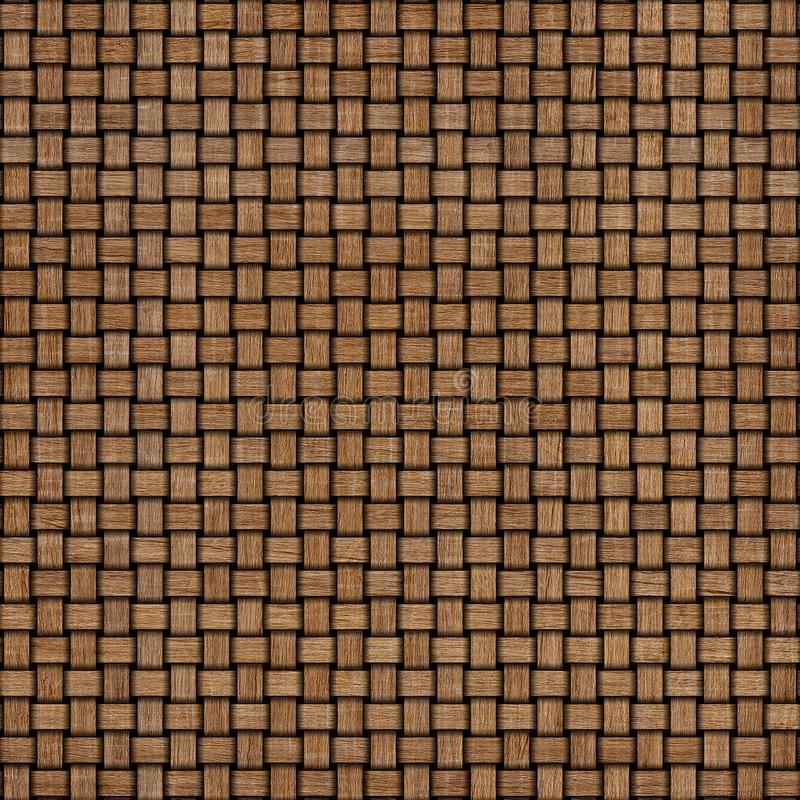 Wooden weave texture background. Abstract decorative wooden textured basket weaving background. Seamless pattern. royalty free stock images