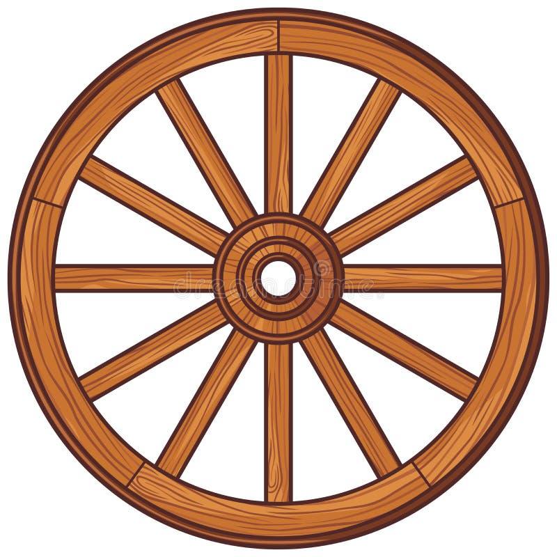 Wooden wheel vector illustration