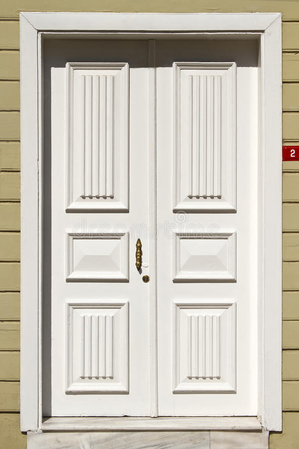 Wooden white front door stock image image of residence for White front door
