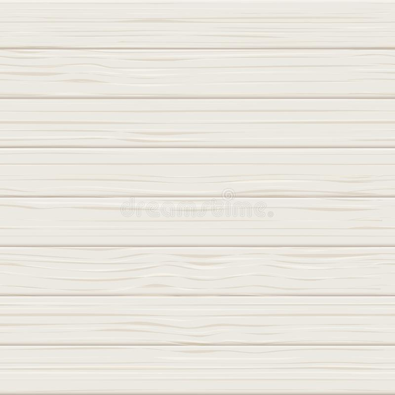 Wooden white seamless realistic texture. Light wood planks vector background. Table board or floor surface illustration vector illustration