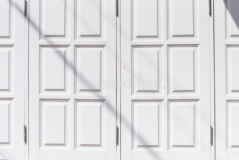 The wooden white window in morning stock photography