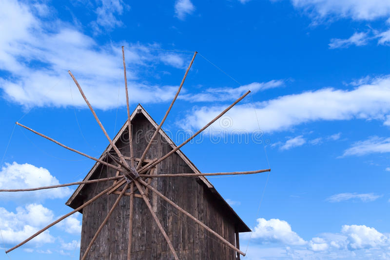 Wooden windmill royalty free stock photography
