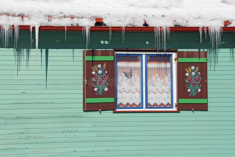 Wooden Window Stock Image