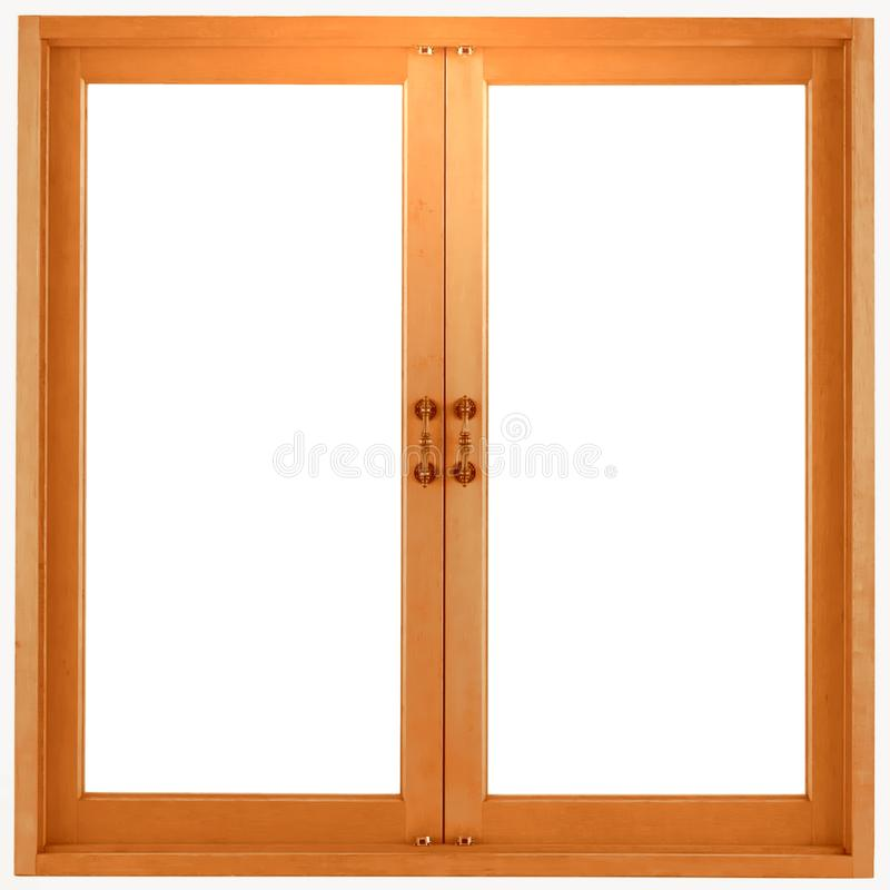 Wooden window frame isolated stock photos