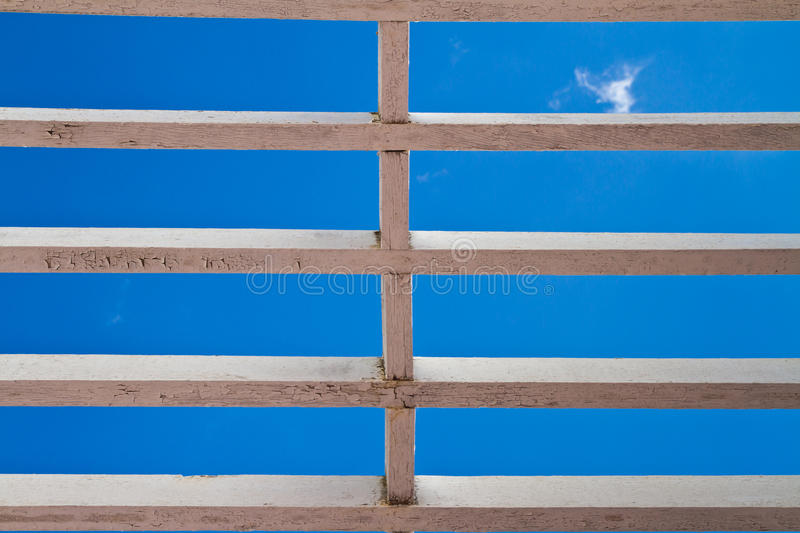 Wooden window grilles royalty free stock image