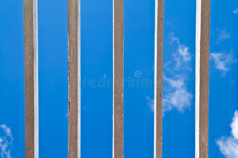 Wooden window grilles stock images