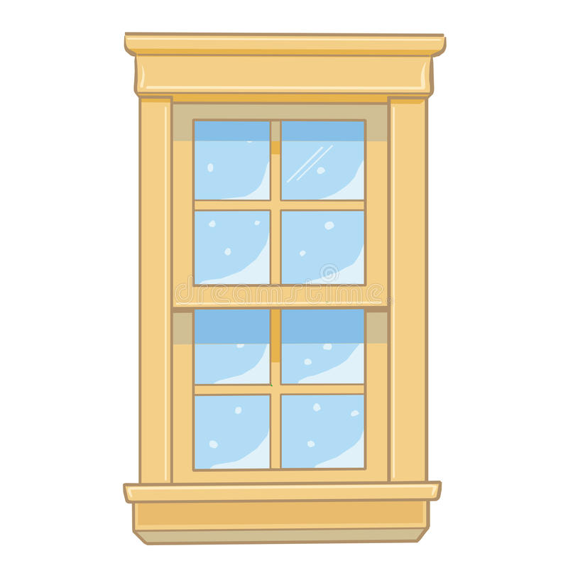 Download Wooden Window Isolated Illustration Stock Vector - Illustration: 32742186
