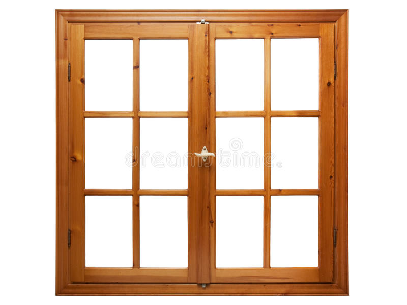 Wooden window isolated. On white background interior side royalty free stock images