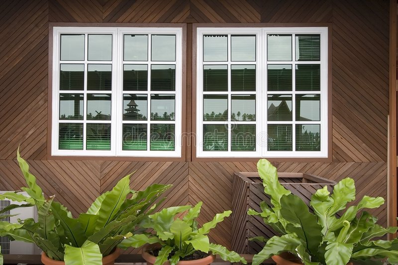 Download Wooden Windows stock image. Image of home, exterior, mortgage - 1071275