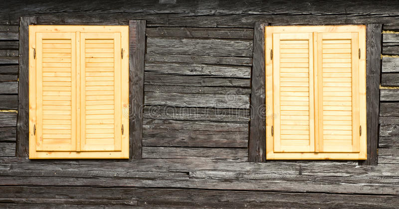 Download Wooden Windows And Shutters Stock Photo - Image of house, window: 24844218
