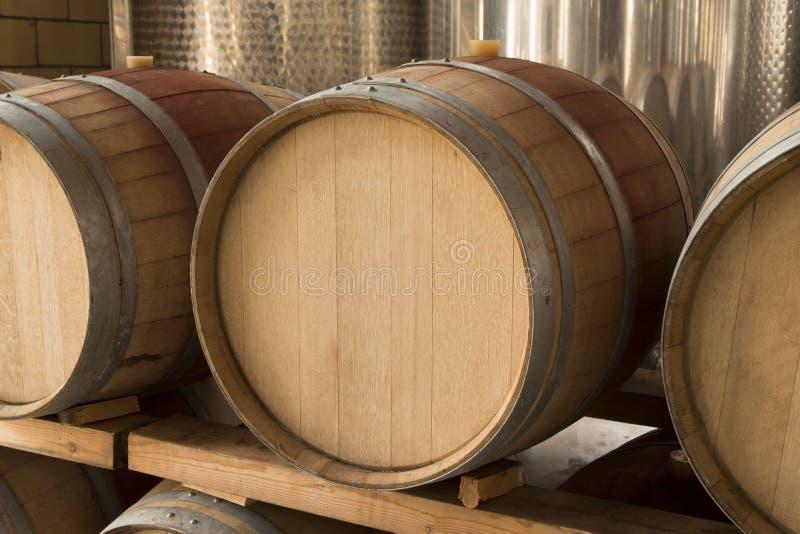 Wooden wine barrel stock images