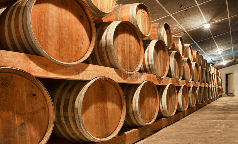 Wooden Wine Barrels Royalty Free Stock Photo