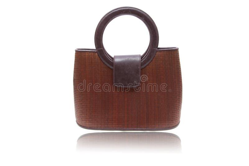 Wooden woman bag royalty free stock photos