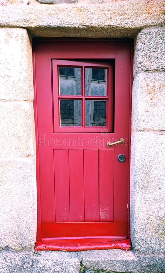 Wooden wood Red Door stock photography