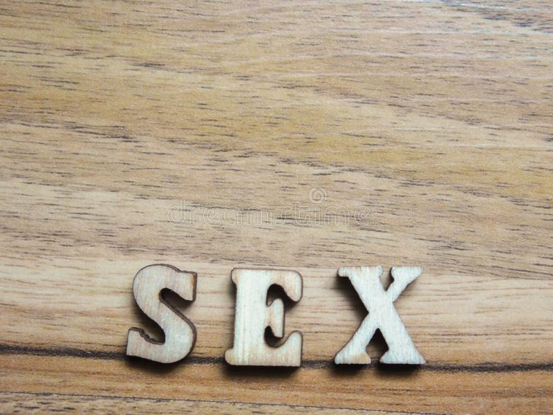 Word sex royalty free stock photography