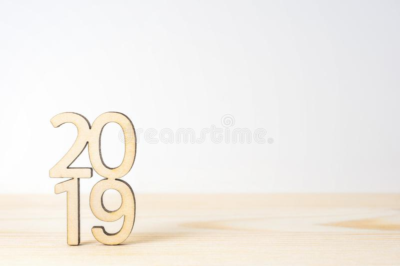 wooden word 2020 on table and white background royalty free stock photo