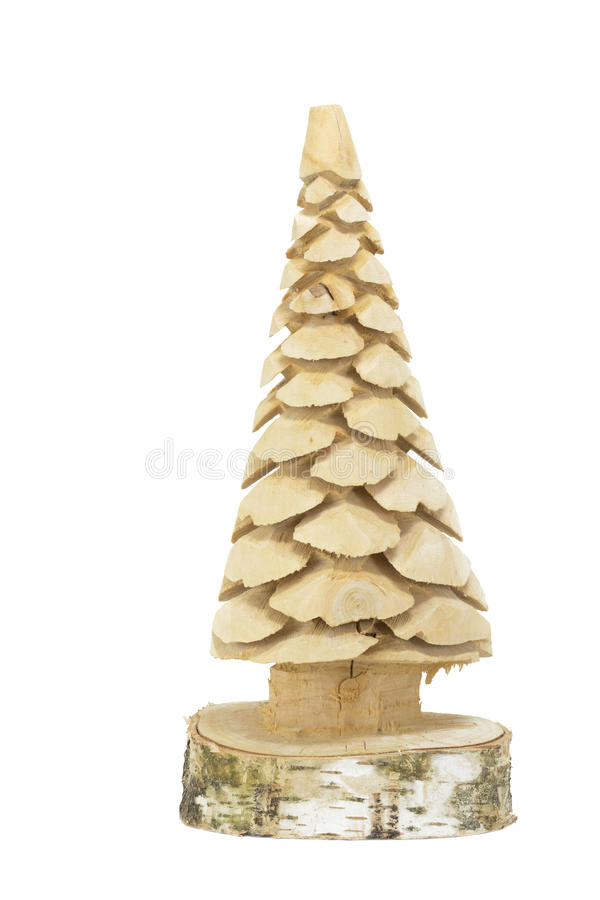 Wooden xmas tree, small royalty free stock image