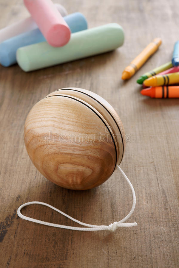 Download Wooden Yoyo stock photo. Image of wooden, yo, play, chalk - 39842944