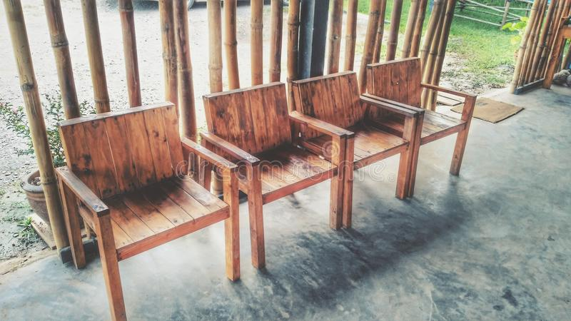 WoodenChairs photo stock