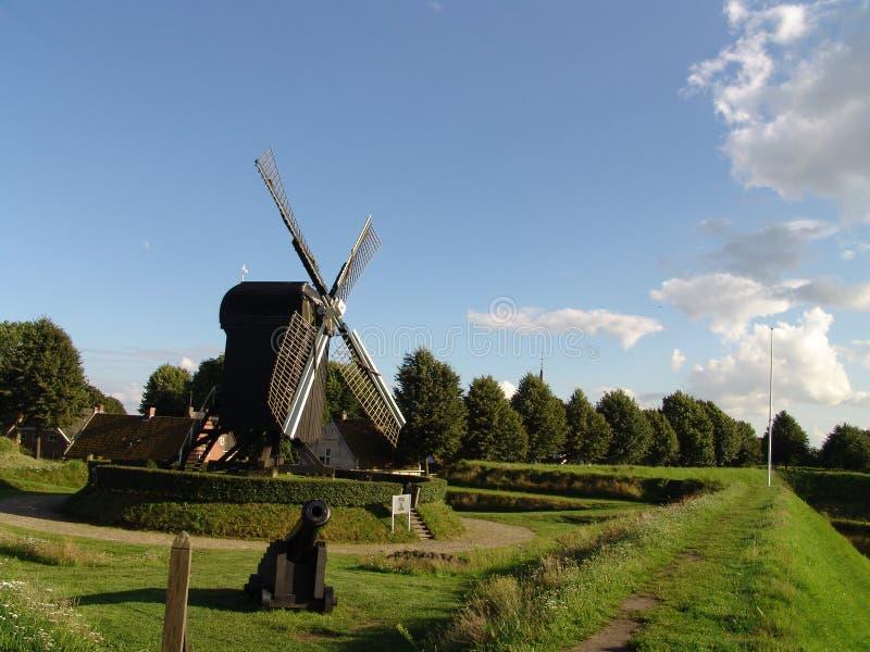woodenwindmill zdjęcie stock