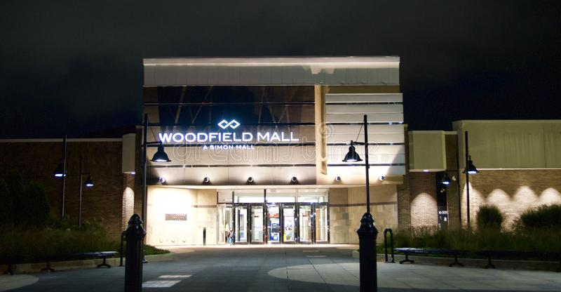 Woodfield购物中心,绍姆堡, IL 免版税库存图片
