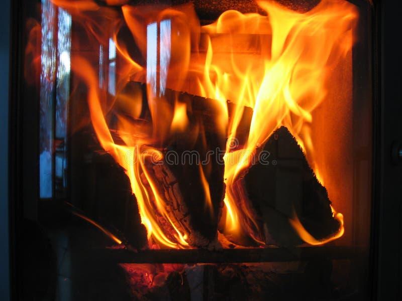 woodfire печки атмосферы уютное большое стоковое изображение rf