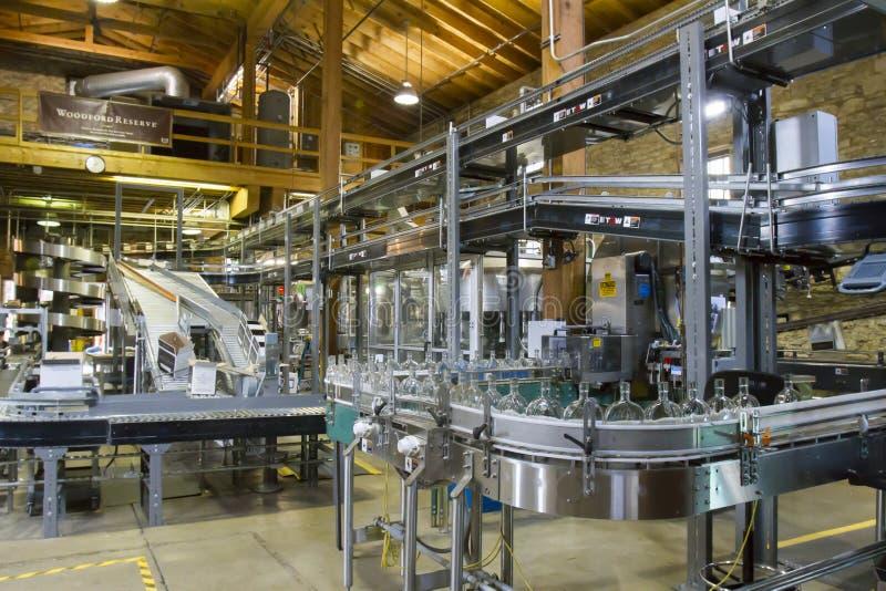 Woodford Reserves bottling process stock image