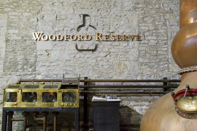 Woodford rezerwy destylarnia zdjęcia royalty free