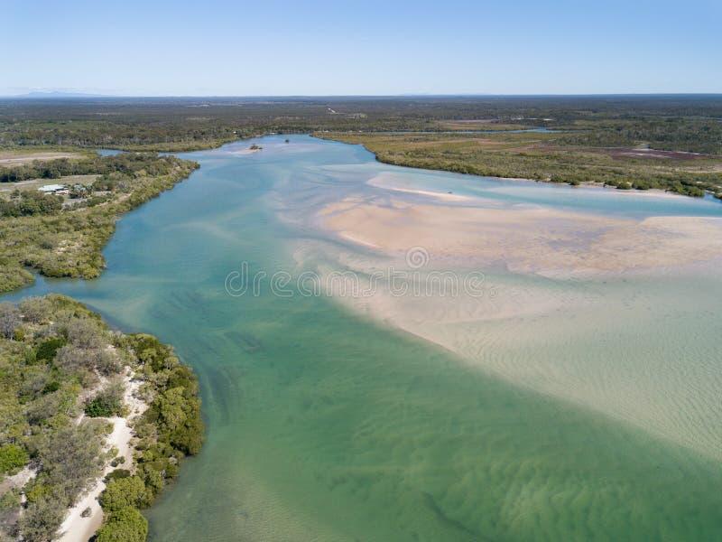 Woodgate est une petite ville de pêche au Queensland photographie stock