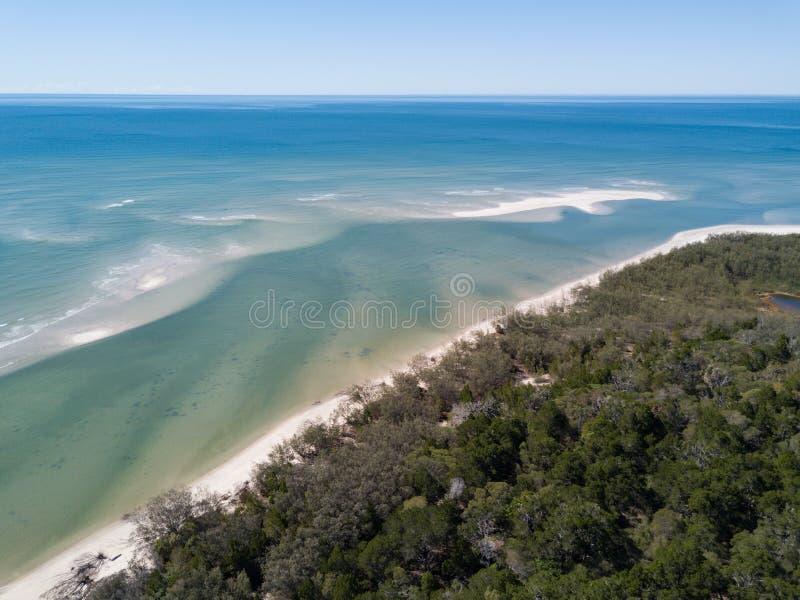 Woodgate Queensland sur la côte en Australie photos libres de droits