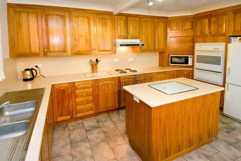 Download Woodgrain kitchen stock image. Image of wooden, steel - 5283271