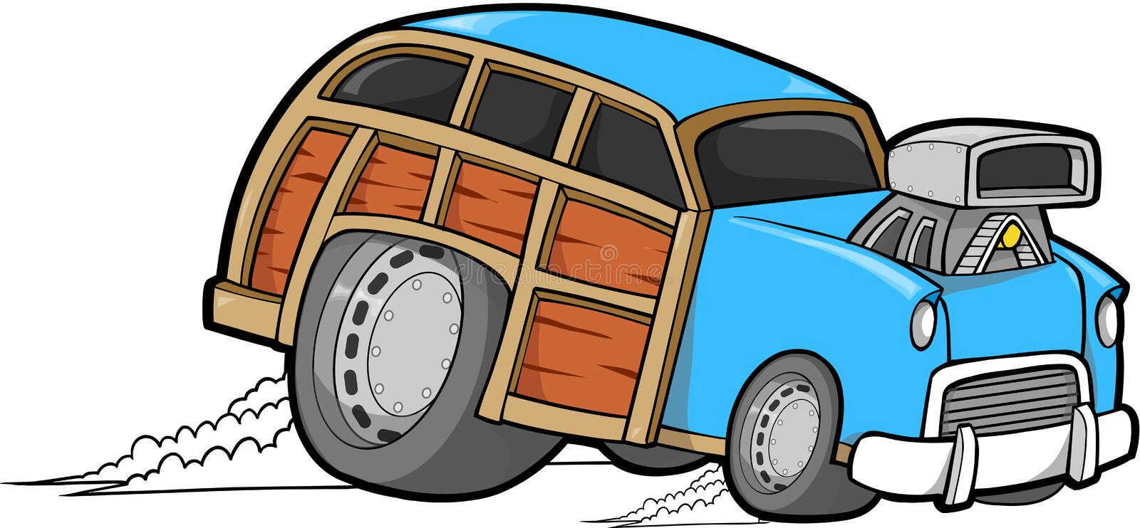 Download Woodie Car Vector stock vector. Image of power, transportation - 5075564