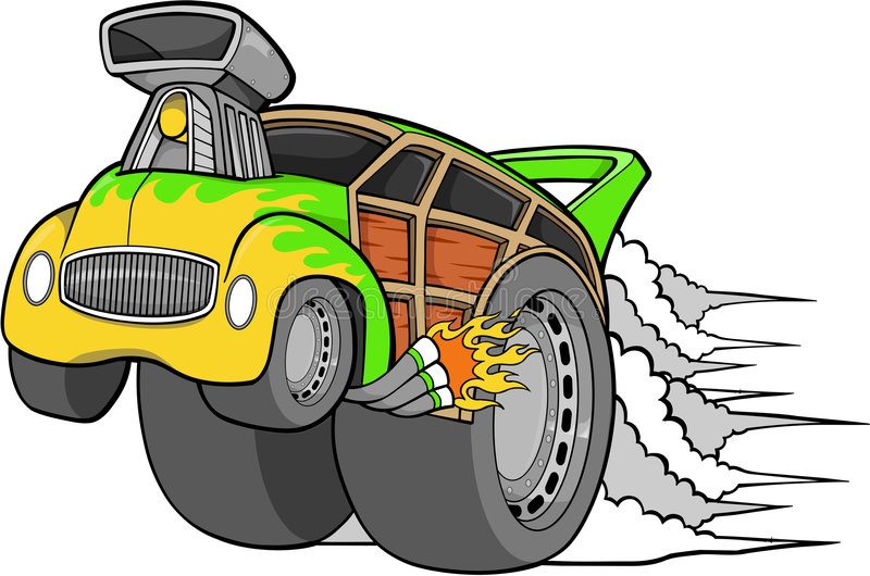 Woodie Car Vector vector illustration