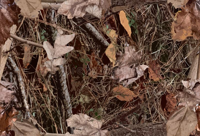 A Woodland Camouflage Pattern for hunting purposes royalty free stock photography