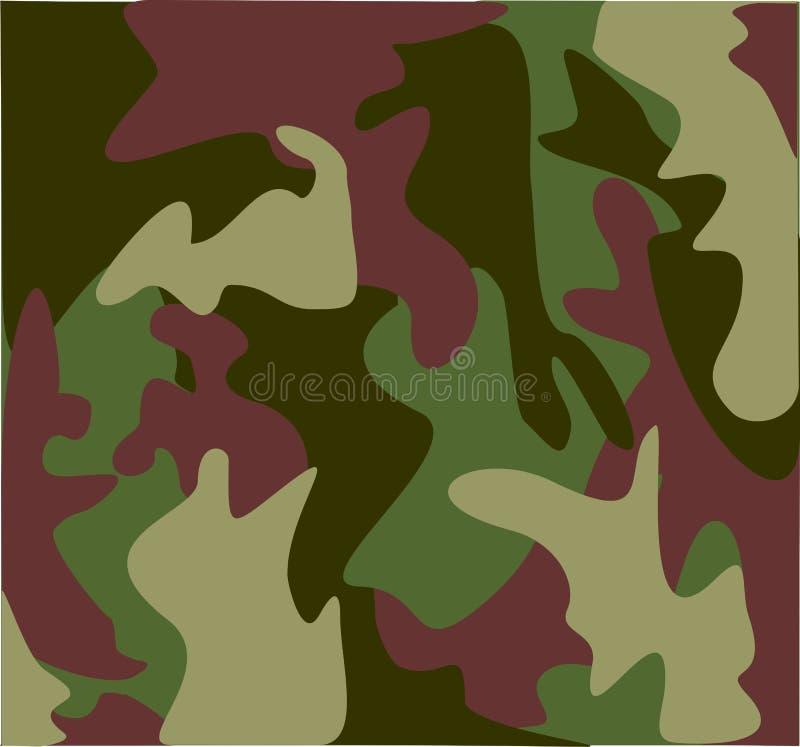 Woodland military camouflage royalty free illustration